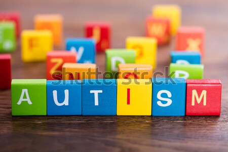 PMS Word Made With Blocks Stock photo © AndreyPopov