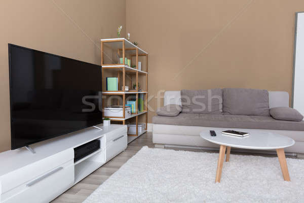 Appartement televisie sofa moderne woonkamer huis Stockfoto © AndreyPopov