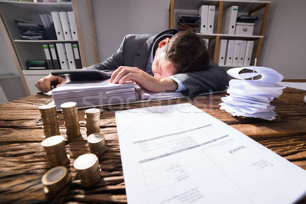 Stock photo: Businessman Sleeping In Office