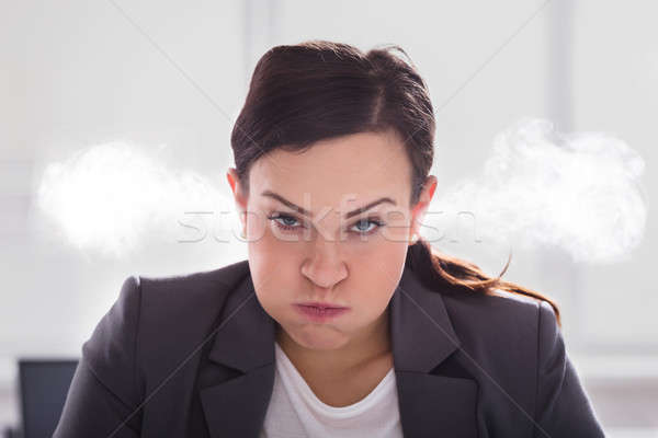 Portrait Of An Furious Businesswoman Stock photo © AndreyPopov
