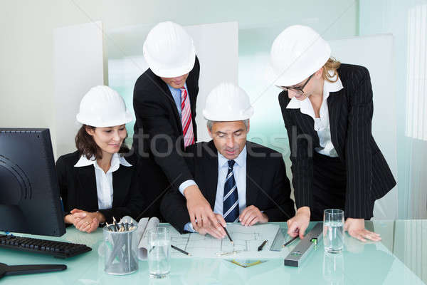 Meeting of architects or structural engineers Stock photo © AndreyPopov