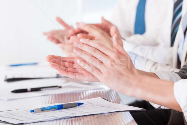 Happy Business People Clapping Stock photo © AndreyPopov