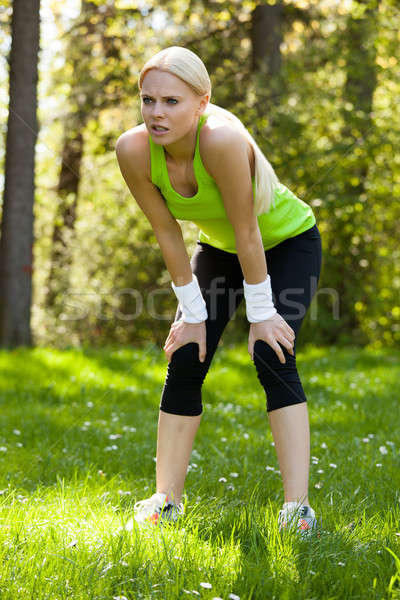 Stock photo: Tired Woman After Exercising