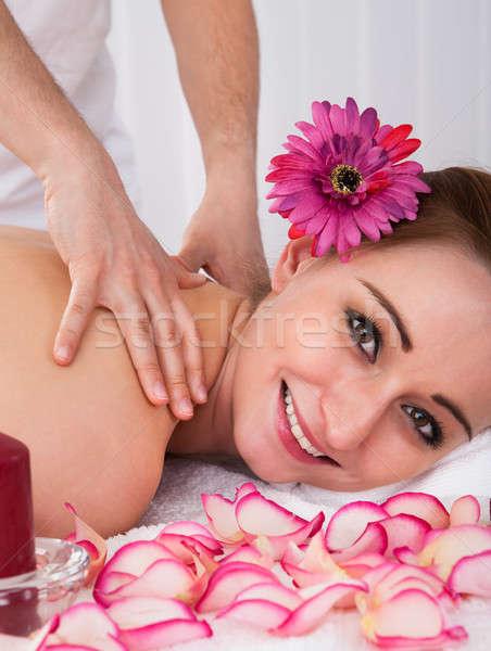 женщину санаторно-курортное лечение красивой салона цветок Сток-фото © AndreyPopov
