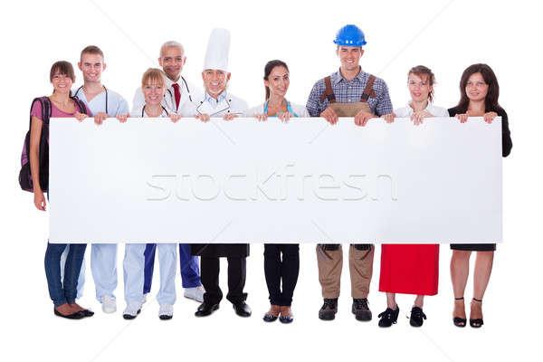 Grupy różnorodny zawodowych ludzi banner Zdjęcia stock © AndreyPopov