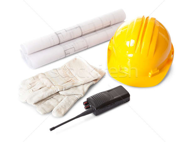 Stock photo: Set of constructions worker objects
