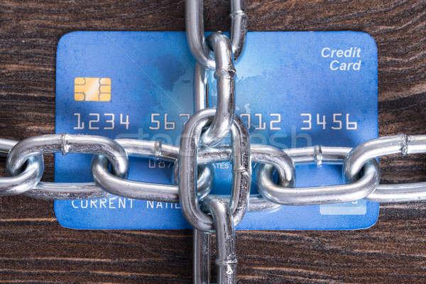 Beveiligde creditcard veiligheid kaart concept krediet Stockfoto © AndreyPopov