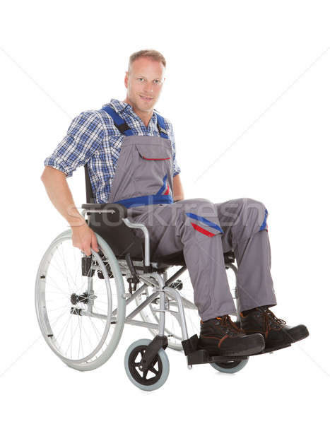 Manual Worker In Wheelchair Stock photo © AndreyPopov
