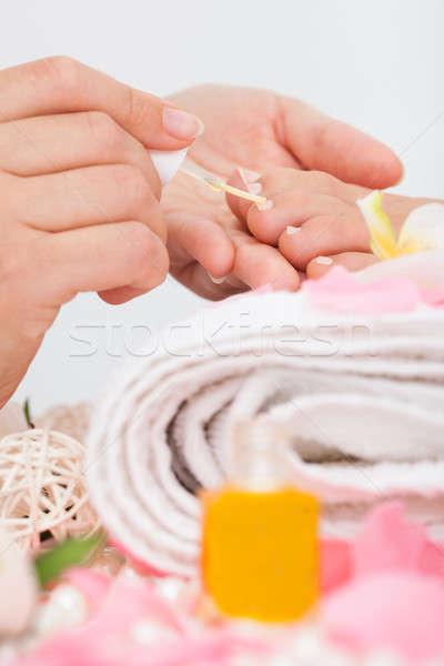 Beautician Applying Nail Varnish Stock photo © AndreyPopov