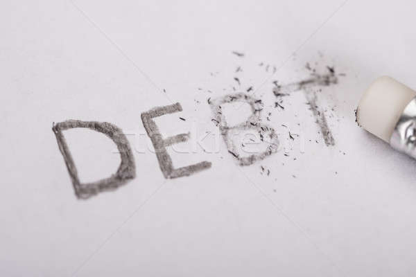 Erasing debt concept Stock photo © AndreyPopov
