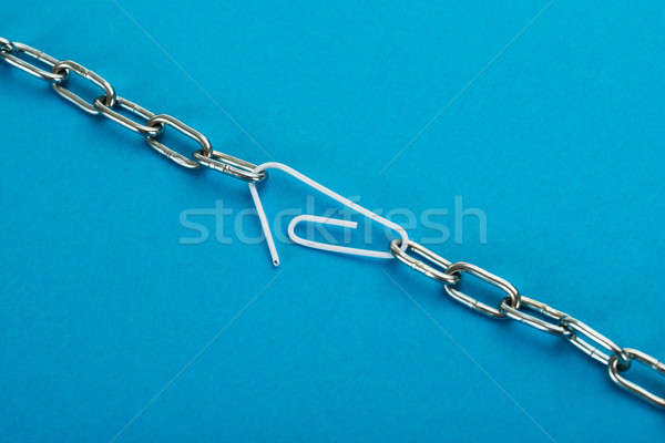 Chain Connected With Paper Clip Stock photo © AndreyPopov