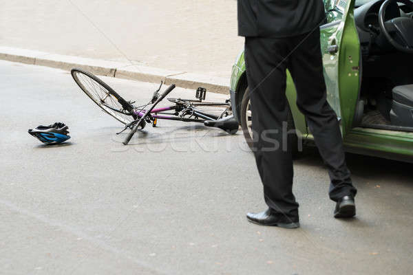 Driver After Collision With Bicycle Stock photo © AndreyPopov