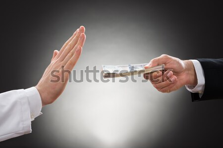 Businessmen Hands With Knife And Mobile Phone Stock photo © AndreyPopov