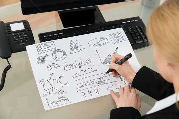 Işkadını analitik diyagram kâğıt Stok fotoğraf © AndreyPopov