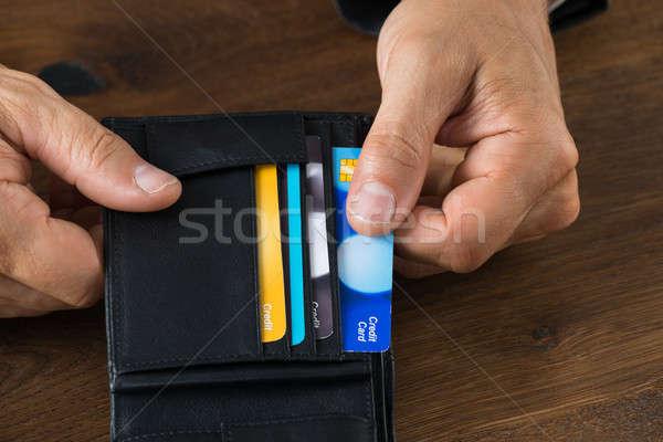 бизнесмен кредитных карт бумажник изображение столе Сток-фото © AndreyPopov