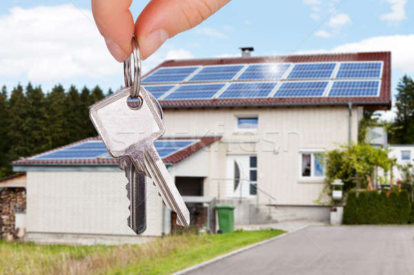 Person Holding The House Key Stock photo © AndreyPopov