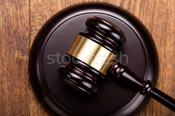 Close-up Of Wooden Gavel Stock photo © AndreyPopov
