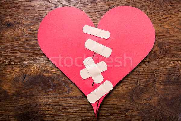 Broken Heart Fixed With Bandage Stock photo © AndreyPopov