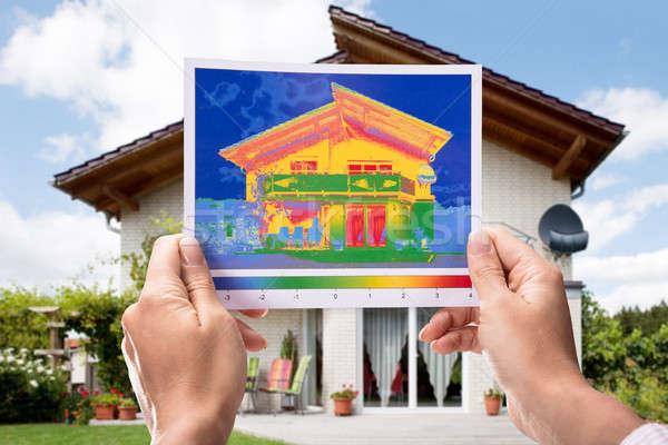 Mano calore perdita casa mani costruzione Foto d'archivio © AndreyPopov