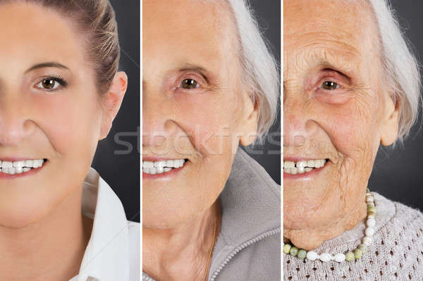 Multiple image vieillissement processus femme Photo stock © AndreyPopov