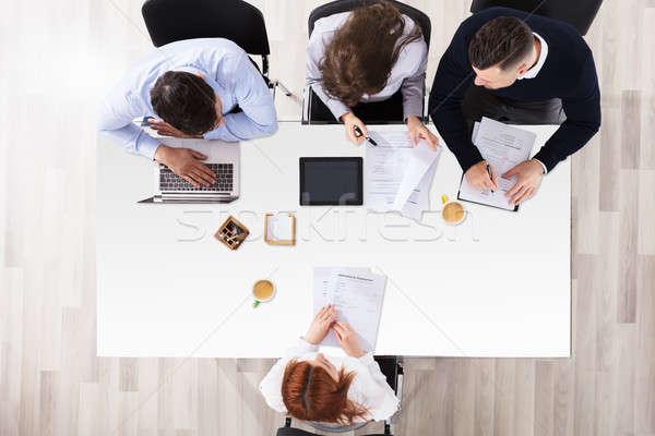 Vrouwelijke aanvrager kantoor Stockfoto © AndreyPopov