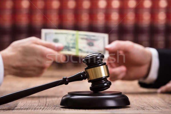 Judge Taking Bribe From Client Stock photo © AndreyPopov