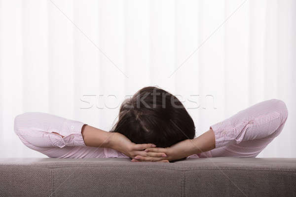 Close-up Of A Woman On Sofa Stock photo © AndreyPopov