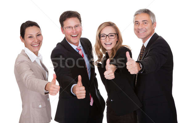 Business ridere gruppo approvazione Foto d'archivio © AndreyPopov