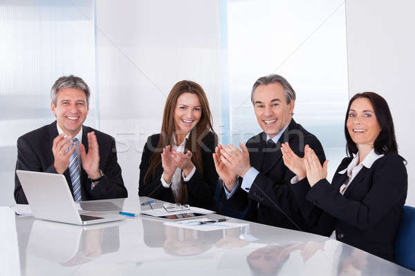 Happy Businesspeople Clapping Stock photo © AndreyPopov