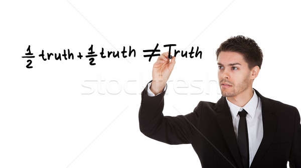 Half truth and half truth does not equal truth Stock photo © AndreyPopov