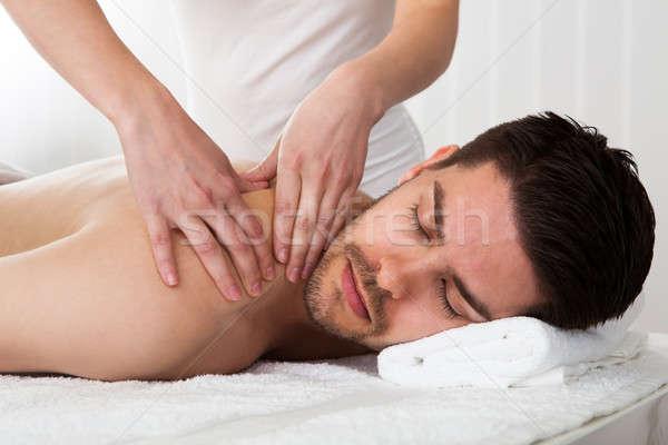 Adam terapi masaj spa merkez kız Stok fotoğraf © AndreyPopov