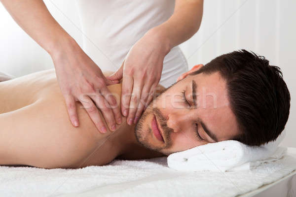 Man getting spa treatment Stock photo © AndreyPopov