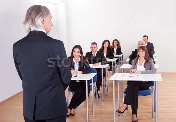 Inhouse business training in a corporation Stock photo © AndreyPopov