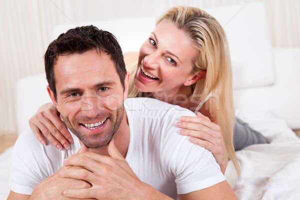 Smiling romantic couple Stock photo © AndreyPopov
