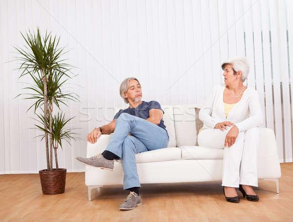 аргумент сидят диван дуется Сток-фото © AndreyPopov