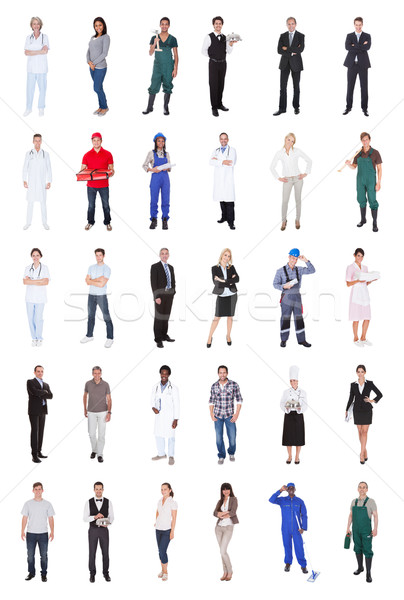 Multiethnic People With Various Occupations Stock photo © AndreyPopov