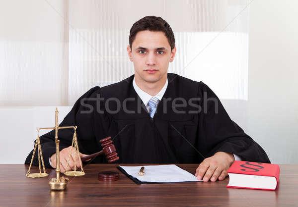 судья сидят портрет мужчины таблице Сток-фото © AndreyPopov