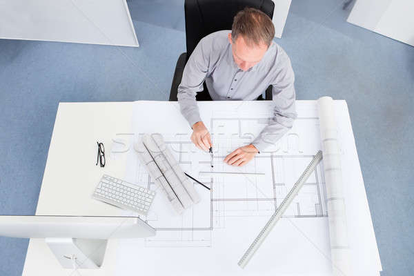 Architecte dessin plan portrait maturit plan for Printing architectural drawings