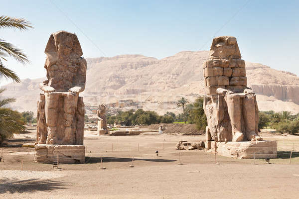 The Colossi Of Memnon Giant Statues Stock photo © AndreyPopov