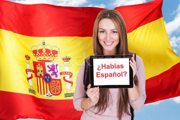 Woman Asking Do You Speak Spanish Stock photo © AndreyPopov