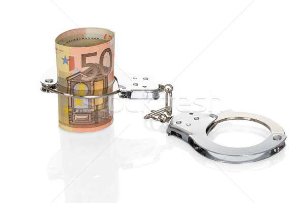 Handcuffs With Euro Notes Stock photo © AndreyPopov