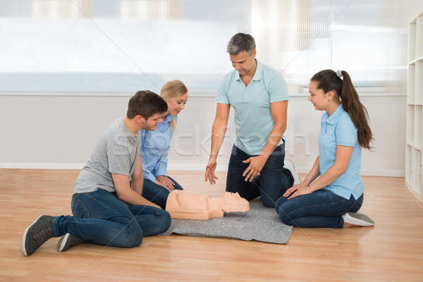 Instructor Showing Resuscitation Technique Stock photo © AndreyPopov