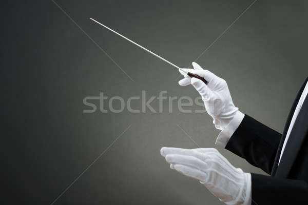 Music Conductor's Hand Instructing With Baton Stock photo © AndreyPopov