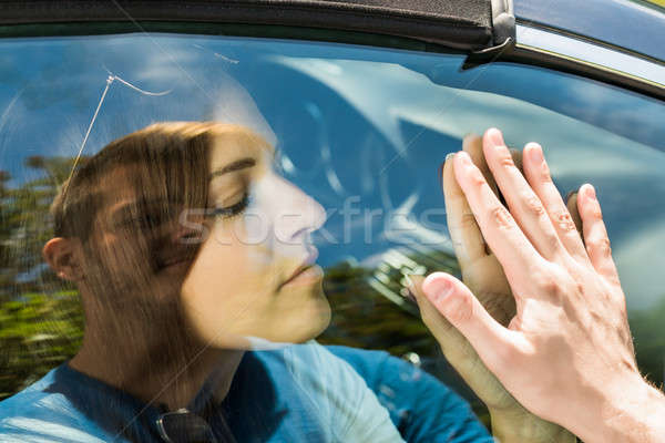 Couple Saying Goodbye Before Car Travel Stock photo © AndreyPopov