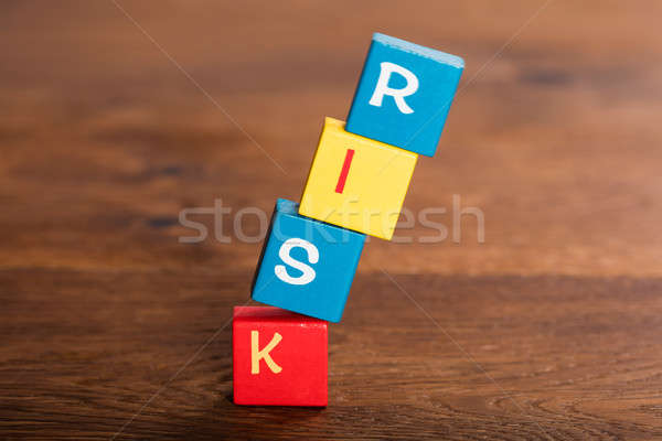 Risk Word On Falling Cubes Stock photo © AndreyPopov