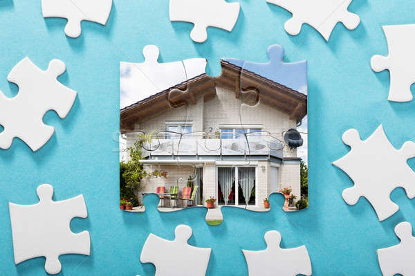 Incomplete House Puzzle Stock photo © AndreyPopov