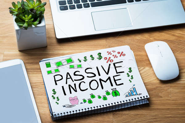 Passive Income Words In Notepad Stock photo © AndreyPopov