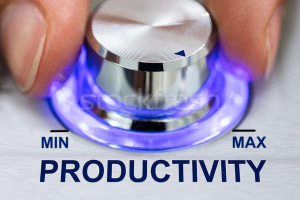 Kéz megvilágított fogantyú produktivitás szöveg kép Stock fotó © AndreyPopov