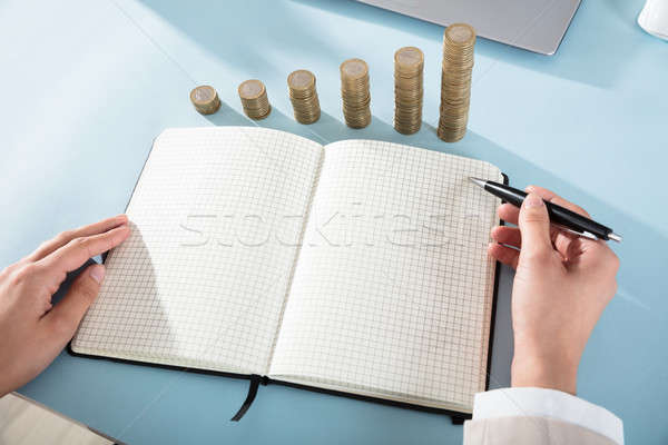Businessperson With Checker Note Book And Pen Stock photo © AndreyPopov