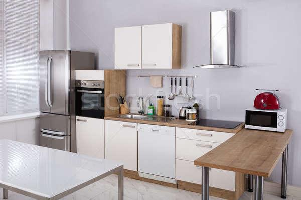 Interior Of A Model Kitchen Stock photo © AndreyPopov